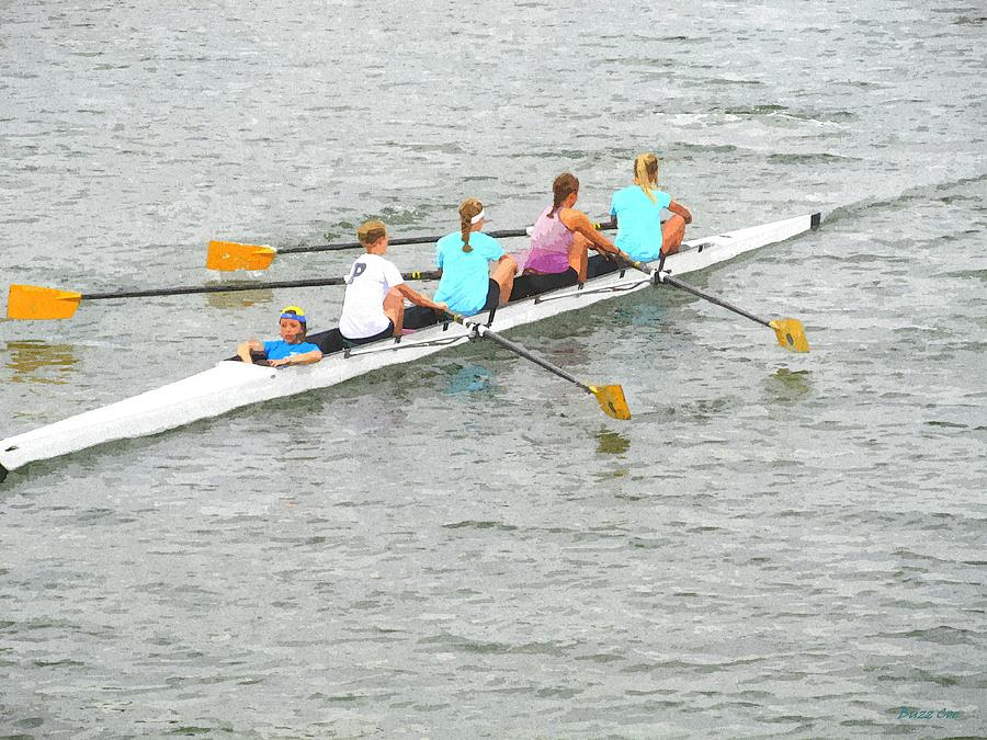 Sculling Team On Palm River  Photograph