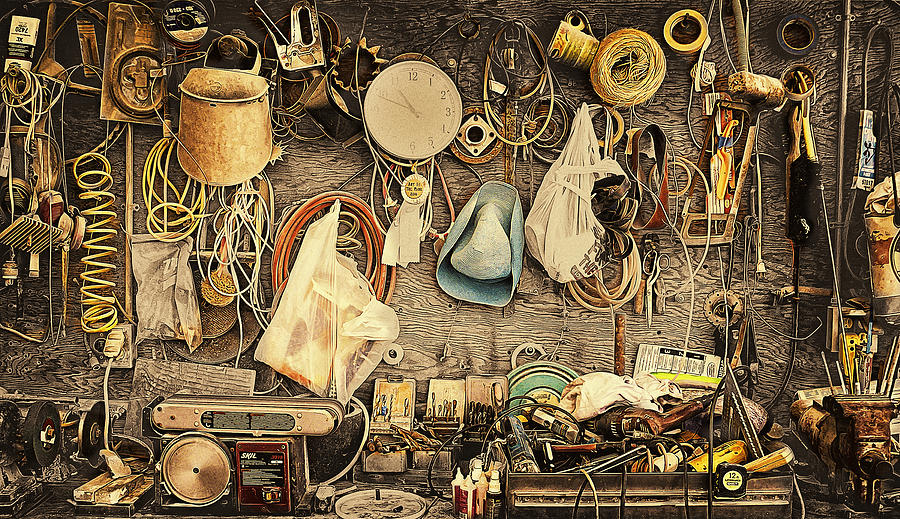 Sculptors Workbench Photograph  - Sculptors Workbench Fine Art Print