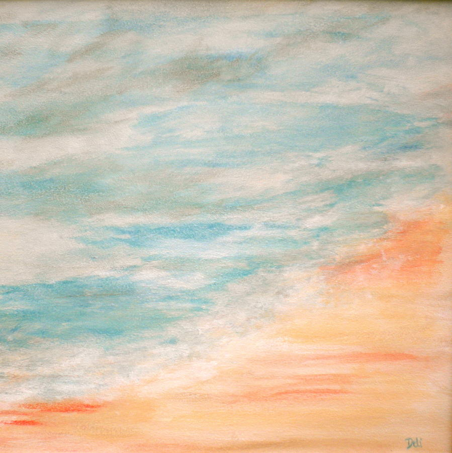 Sea And Sand Painting - Sea And Sand by Debi Starr