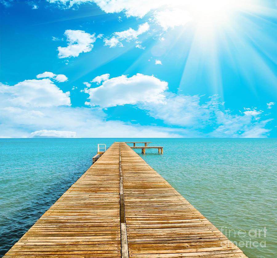 Sea Beautiful And Sky Photograph