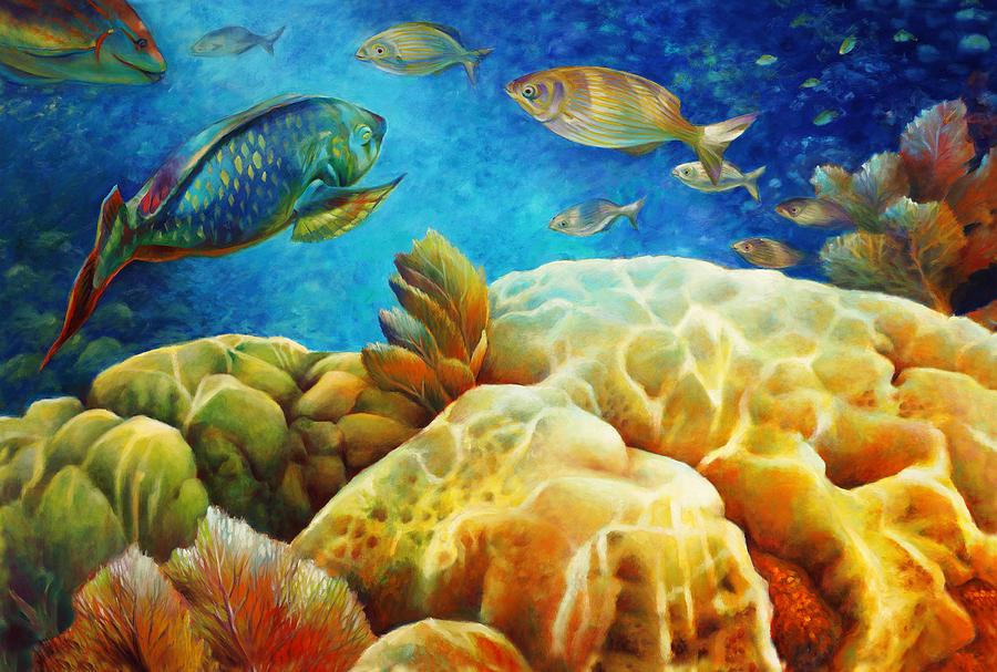 Landscape Painting - Sea Escape I -27x40 by Nancy Tilles