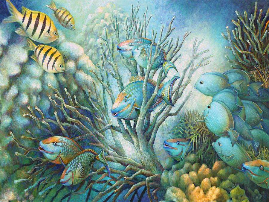 Under Water Painting - Sea Folk by Nancy Tilles