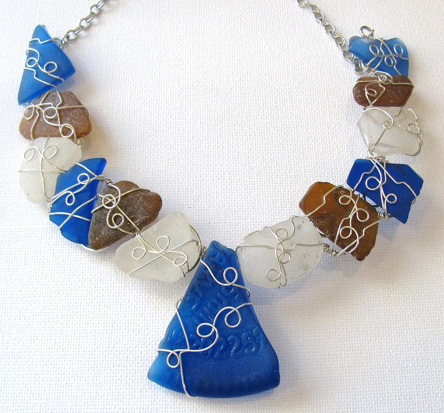 Sea Glass Necklace Jewelry