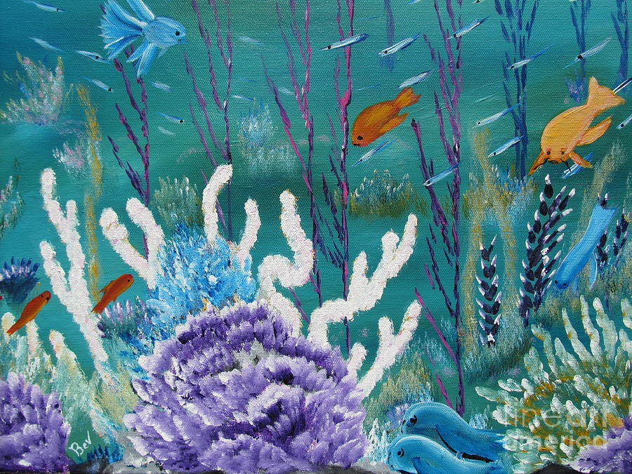 Sea life painting by beverly livingstone for Sea life paintings artists