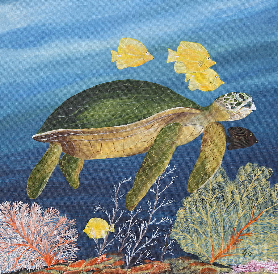 Underwater sea life paintings pictures to pin on pinterest for Sea life paintings artists