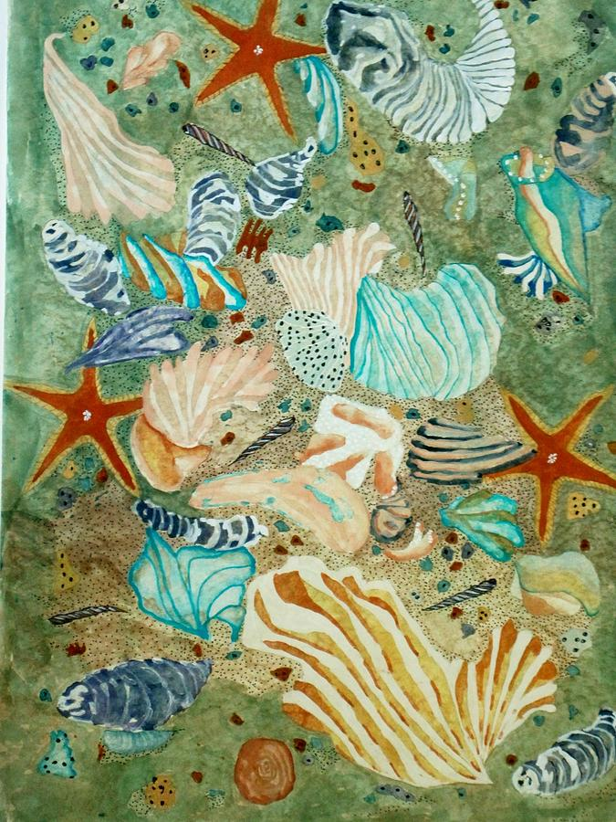 Sea life painting by david raderstorf for Sea life paintings artists