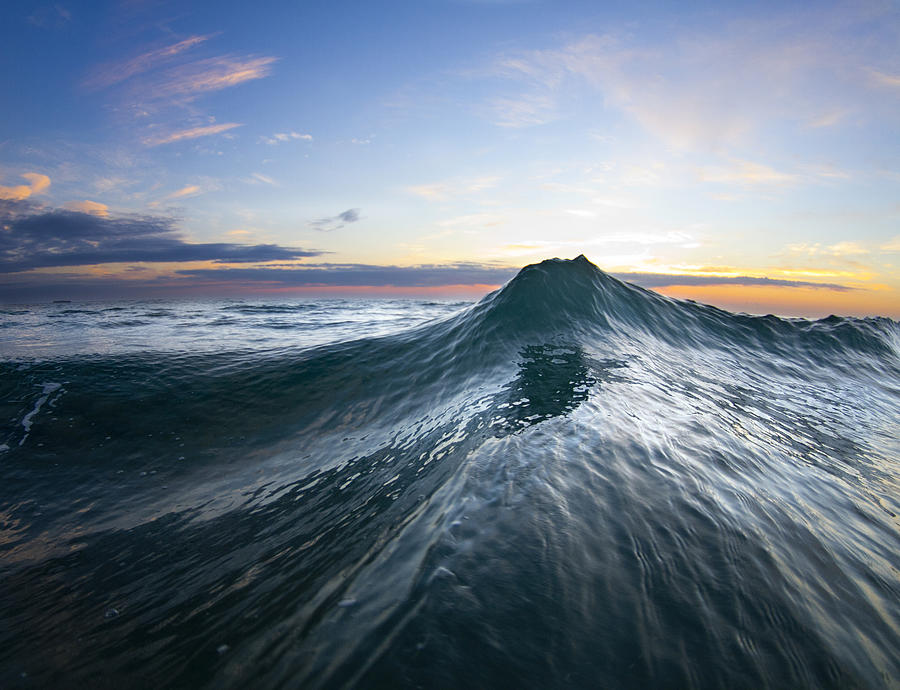 Wave Photograph - Sea Mountain by Sean Davey