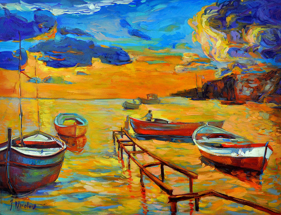 Abstract Painting - Sea Scenery by Ivailo Nikolov