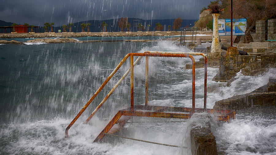 Sea Stairs Photograph