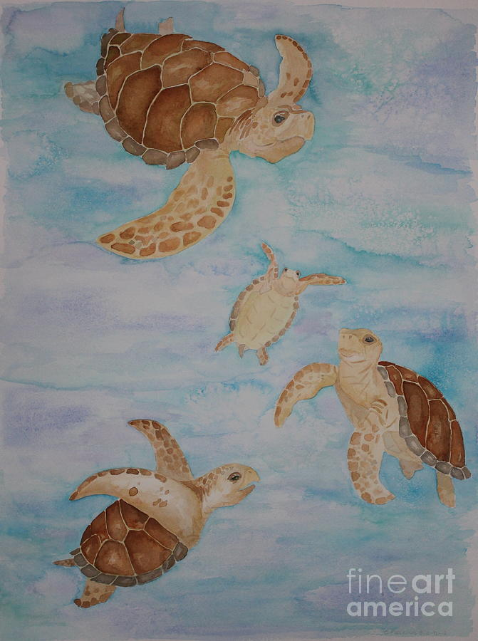 Sea Turtle Family Painting