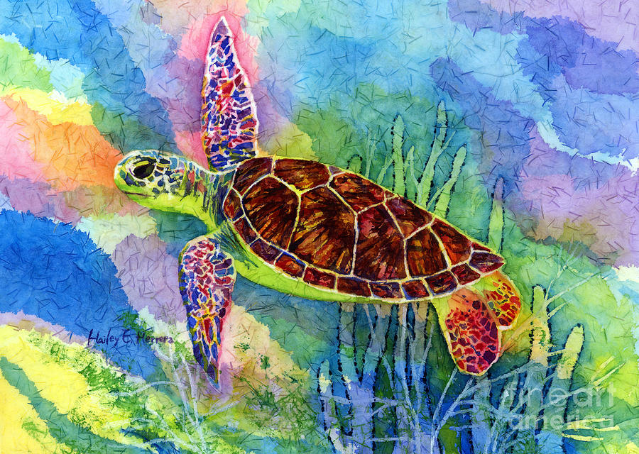 Sea Turtle Painting By Hailey E Herrera