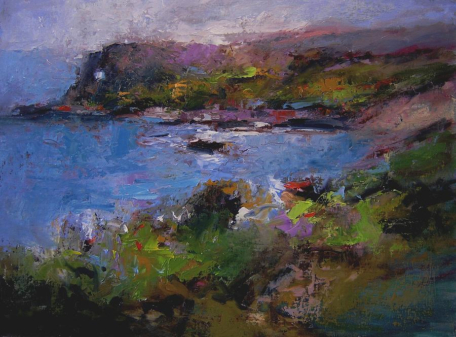 Seascape Painting - Seacave Point by R W Goetting