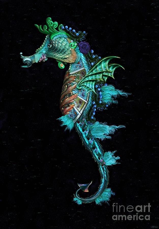 Seahorse Digital Art - Seahorse by Lynn Jackson