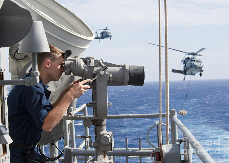 Seaman Apprentice Stands Watch Aboard Photograph
