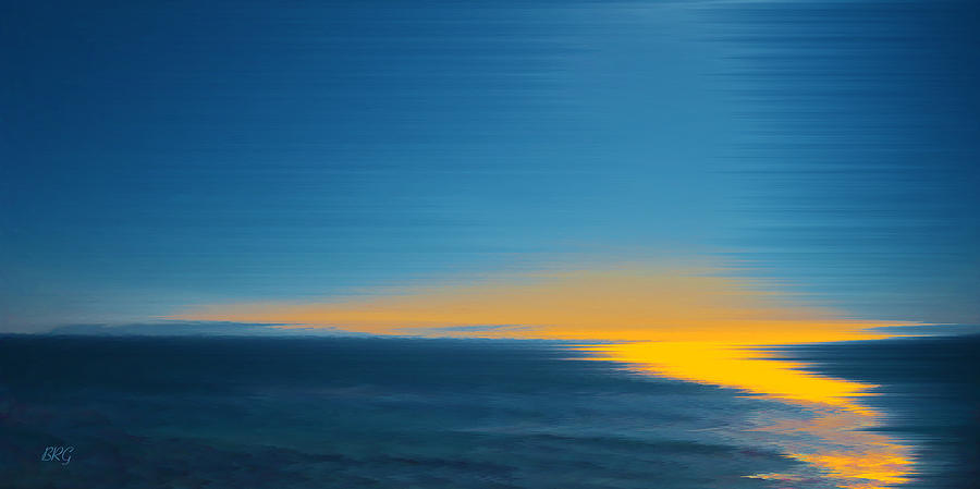 Seascape At Sunset Digital Art