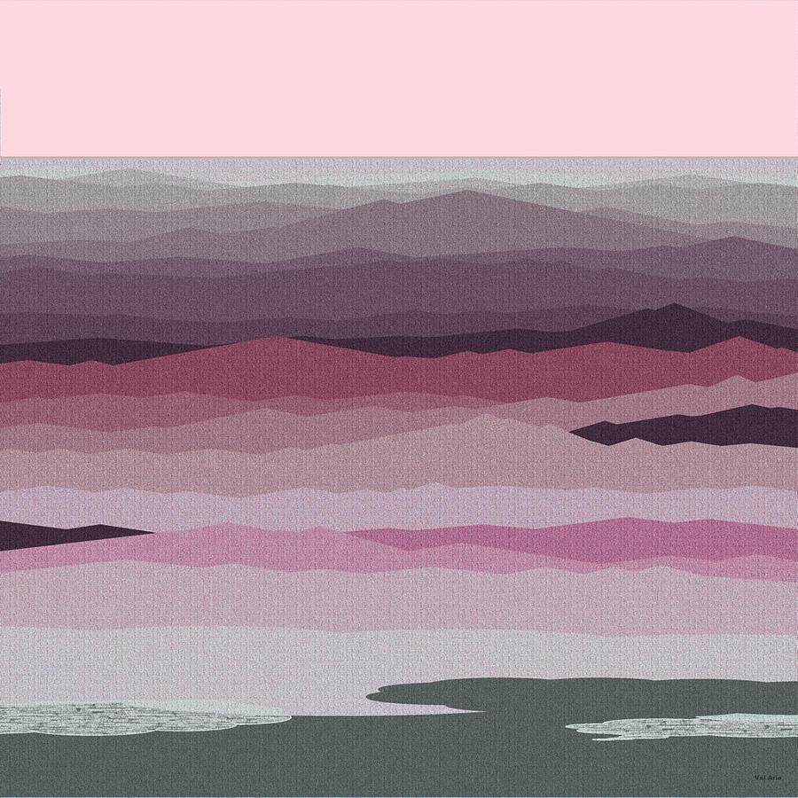 Seascape Pinks Digital Art