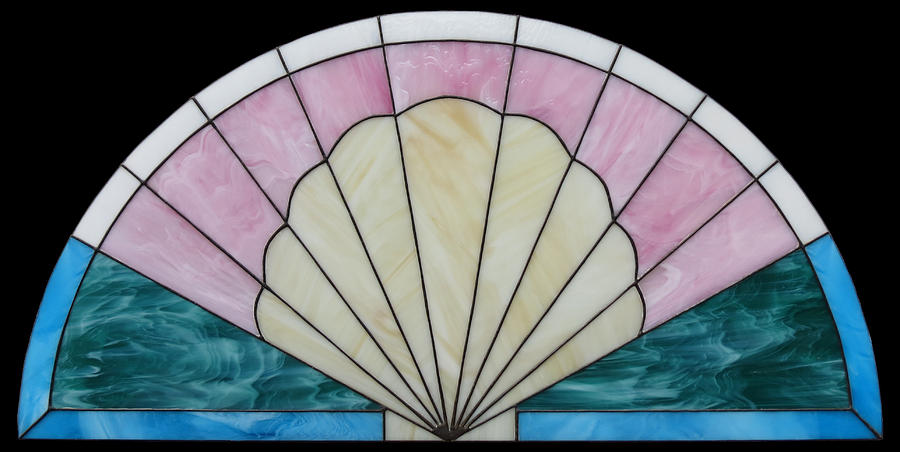 Seashell-fan Arch Glass Art