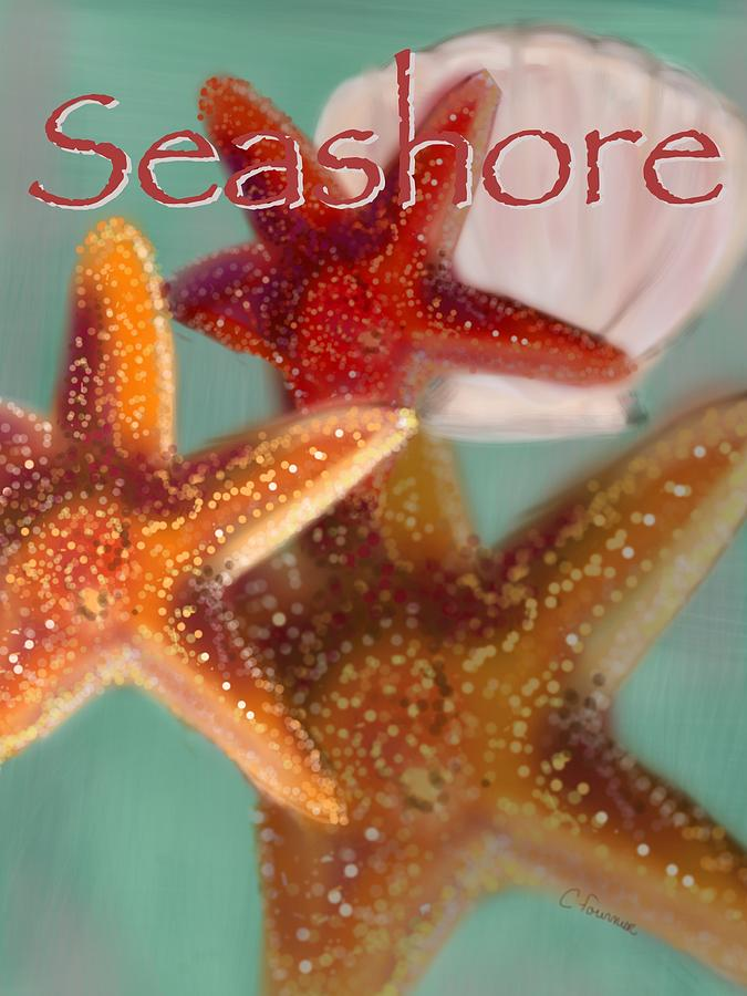 Seashore Poster Digital Art  - Seashore Poster Fine Art Print
