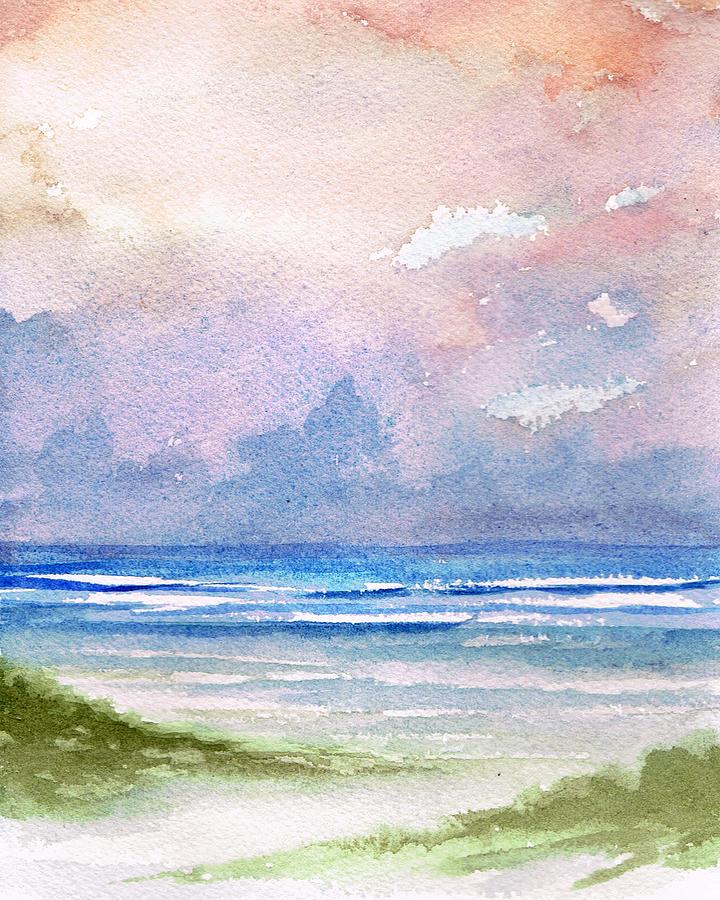 Seashore Sunset Painting