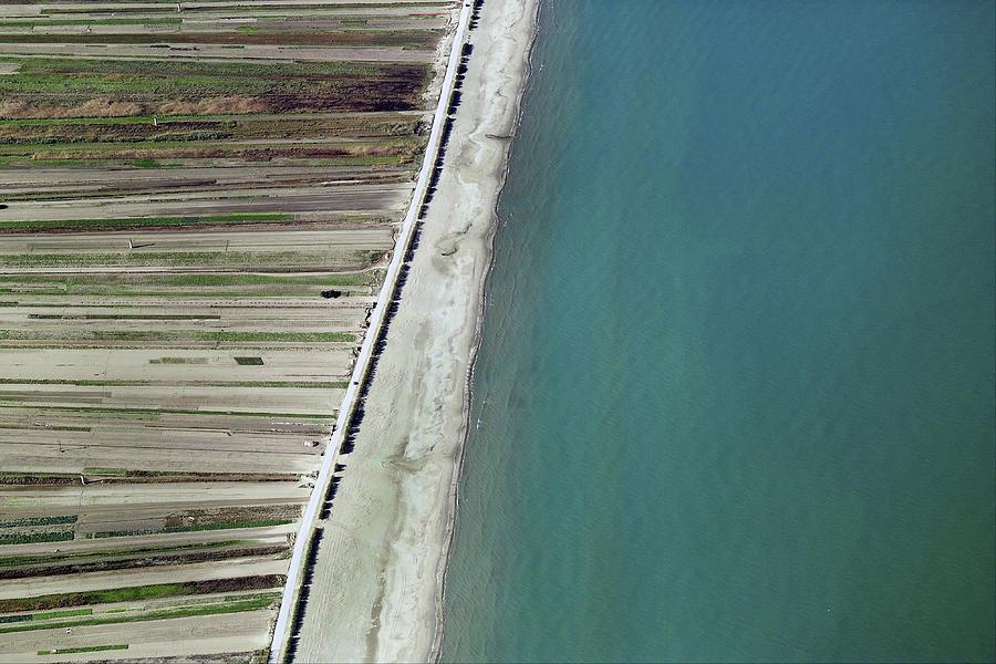 Abstract Farmscape Photograph - Seaside, Barletta by Blom ASA