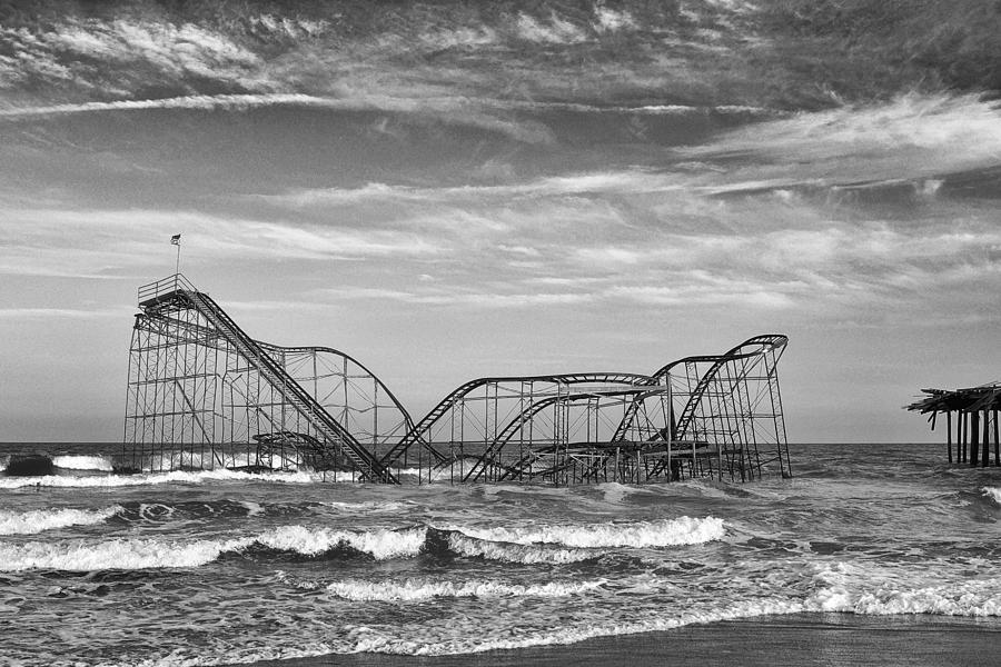 Seaside Heights - Jet Star Roller Coaster Photograph