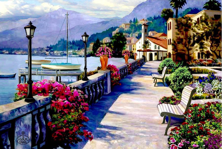 Seaside Pathway Painting