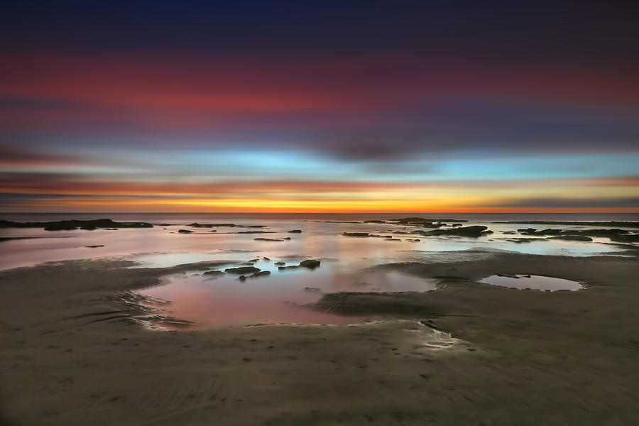 Sun Photograph - Seaside Reef Sunset 14 by Larry Marshall