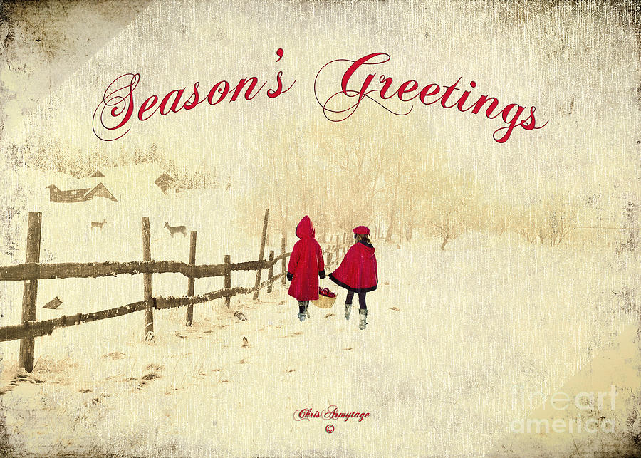 Seasons Greetings - Delivering Festive Cheer Photograph