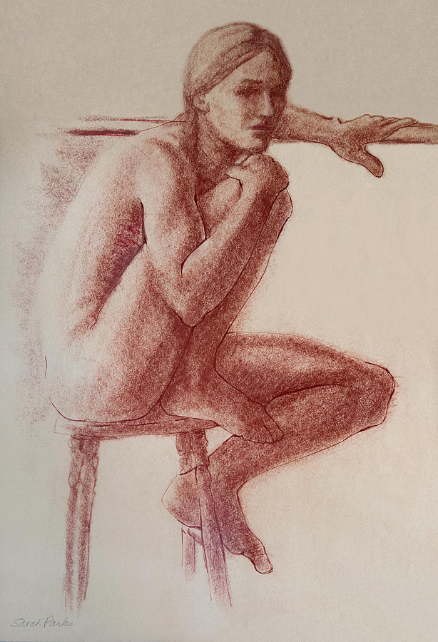 Seated At The Barre Drawing