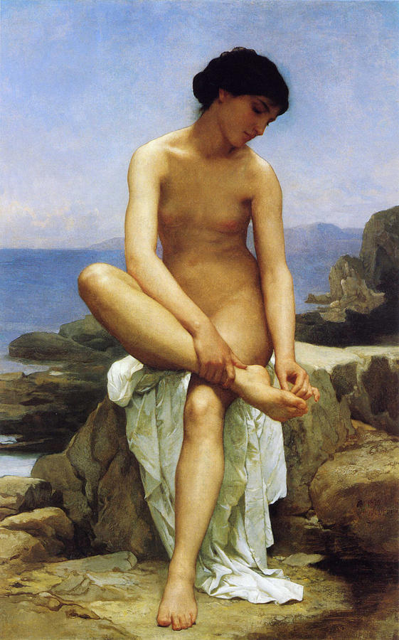 Seated Bather Digital Art  - Seated Bather Fine Art Print