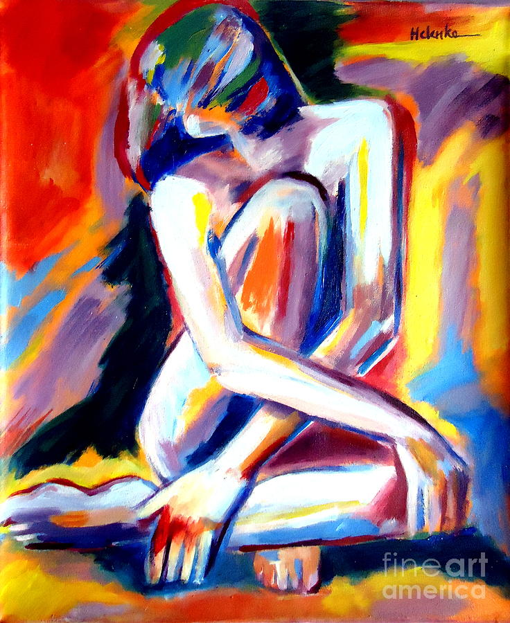 Seated Lady Painting  - Seated Lady Fine Art Print