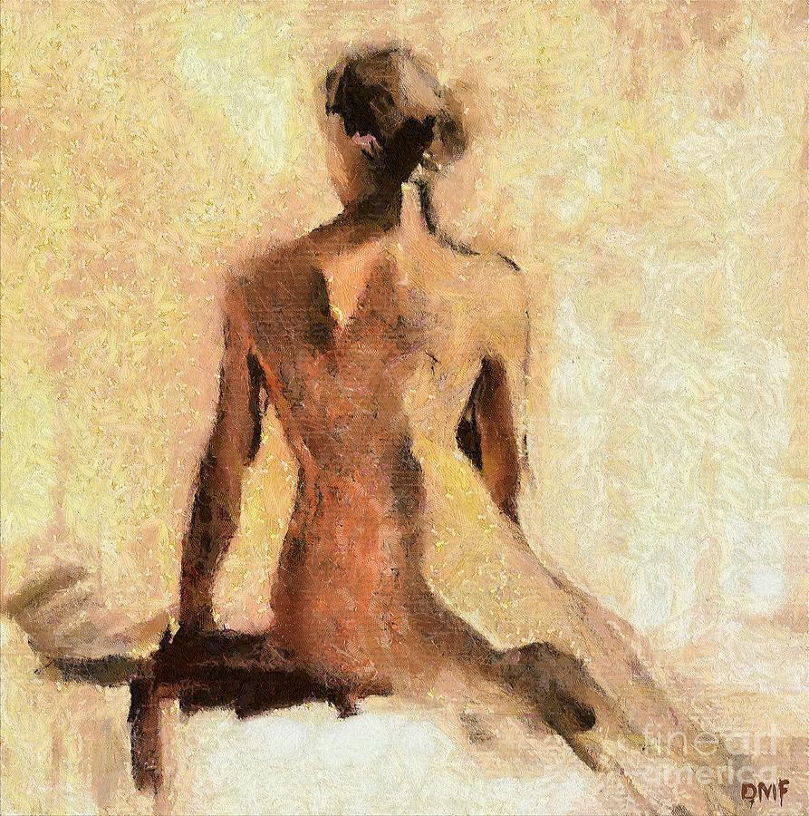 Seated Nude Painting Fine Art Print