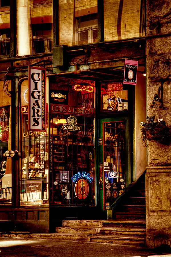 Seattle Cigar Shop Photograph  - Seattle Cigar Shop Fine Art Print