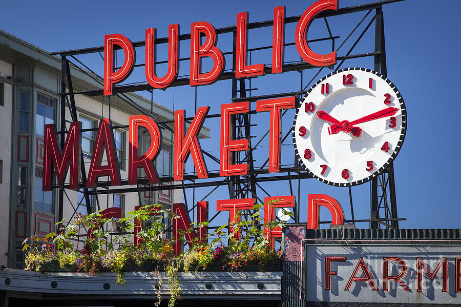 Seattle Market  Photograph  - Seattle Market  Fine Art Print