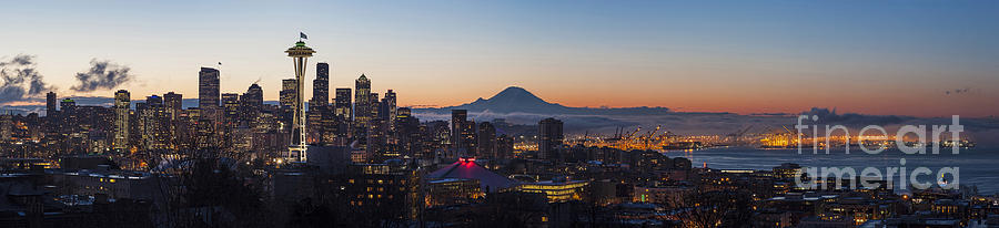 Seattle Morning Glow Photograph  - Seattle Morning Glow Fine Art Print