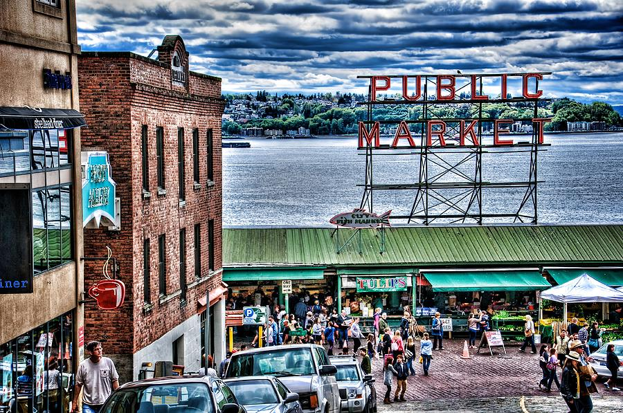 Seattle Public Market II is a photograph by Spencer McDonald which was ...: fineartamerica.com/featured/seattle-public-market-ii-spencer...
