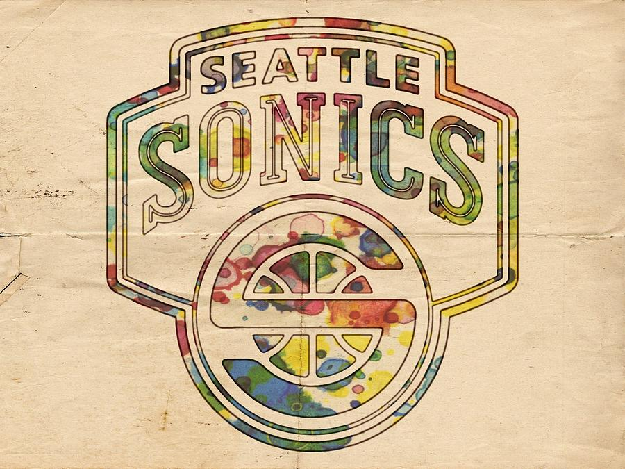 Seattle Supersonics Poster Art Painting