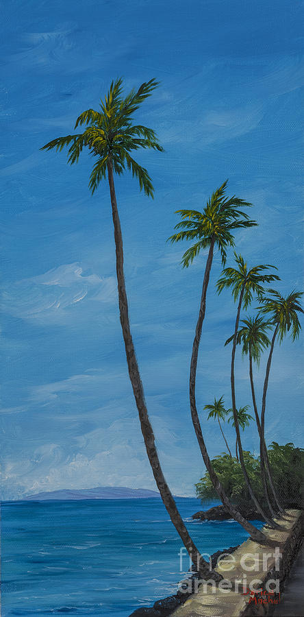 Seawall Palms Painting