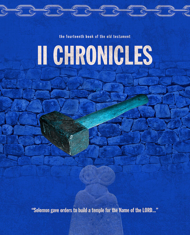 Second Mixed Media - Second Chronicles Books Of The Bible Series Old Testament Minimal Poster Art Number 14 by Design Turnpike