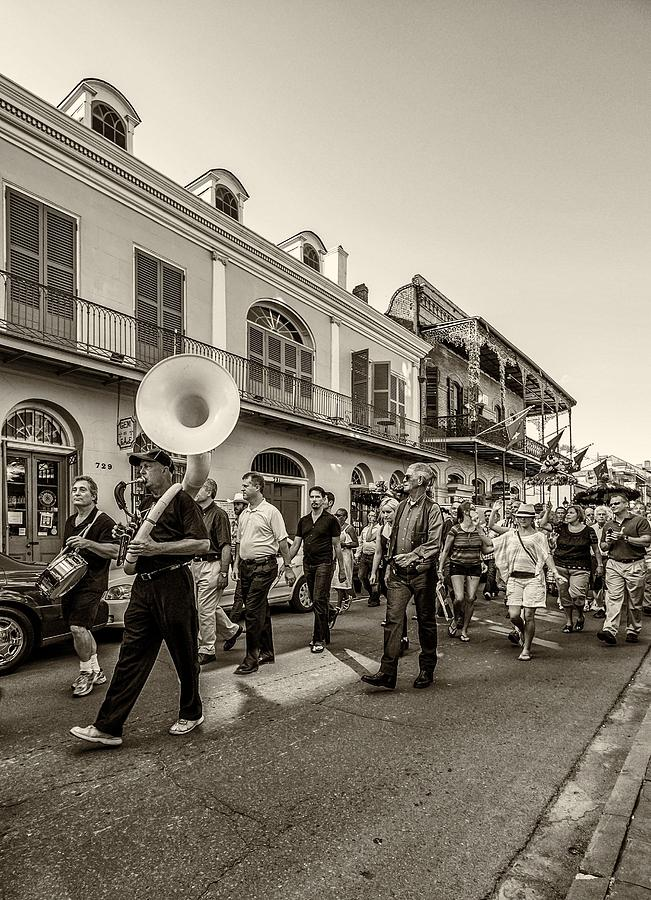 Second Line Monochrome Photograph  - Second Line Monochrome Fine Art Print