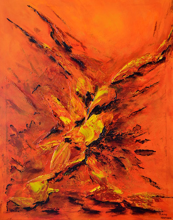 Abstract Painting - Seconde Chance by Thierry Vobmann