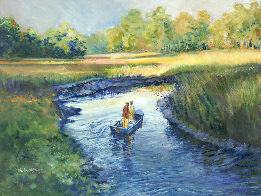 Secret Fishing Hole Painting  - Secret Fishing Hole Fine Art Print