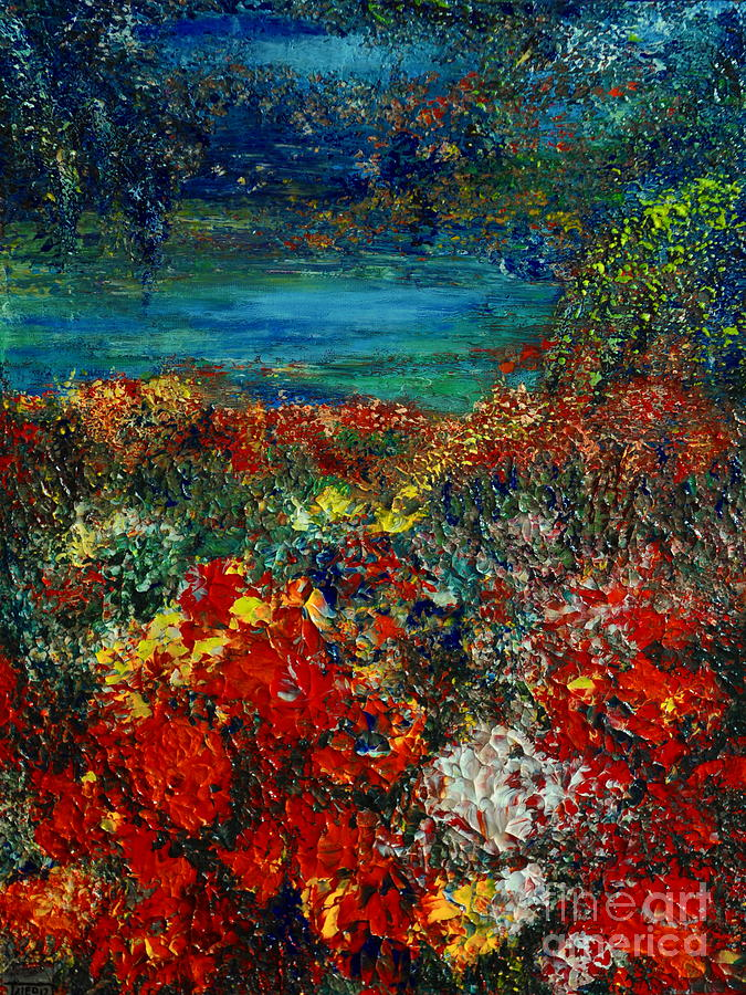 Garden Painting - Secret Garden by Teresa Wegrzyn