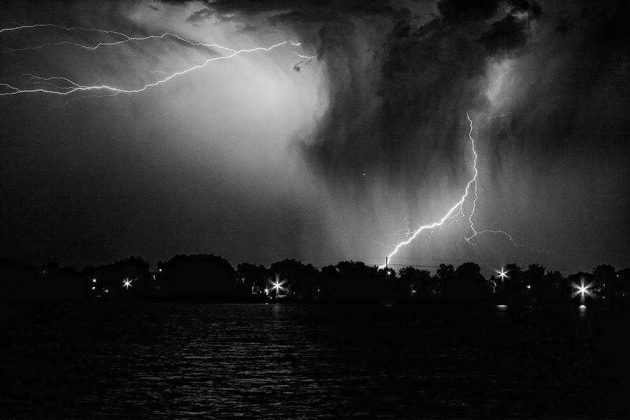 Secret Storm Black And White Photograph