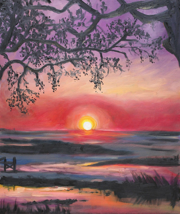 Secrets At Cedar Key Painting  - Secrets At Cedar Key Fine Art Print