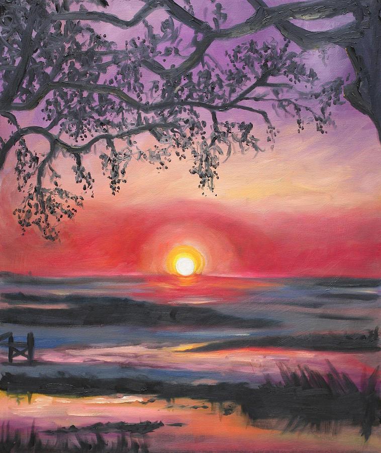 Secrets At Cedar Key Painting