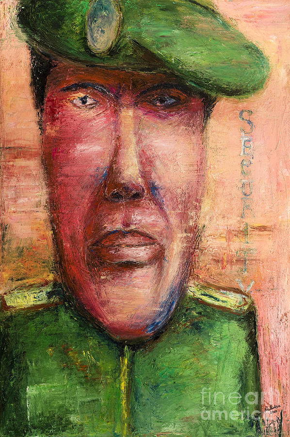 Security Guard - 2012 Painting  - Security Guard - 2012 Fine Art Print