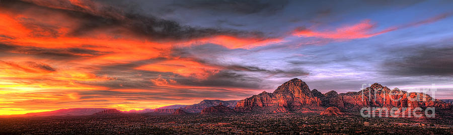 Sedona Arizona At Sunset Photograph  - Sedona Arizona At Sunset Fine Art Print