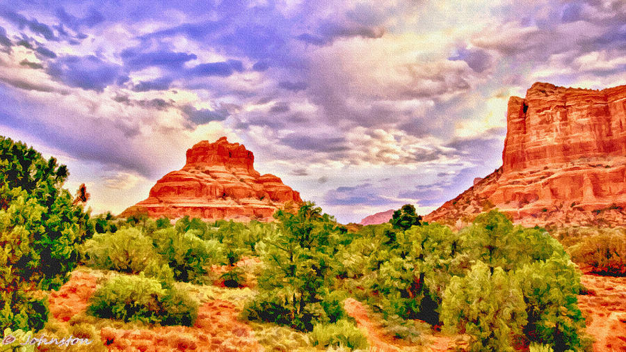 Sedona Arizona Bell Rock Vortex Painting  - Sedona Arizona Bell Rock Vortex Fine Art Print