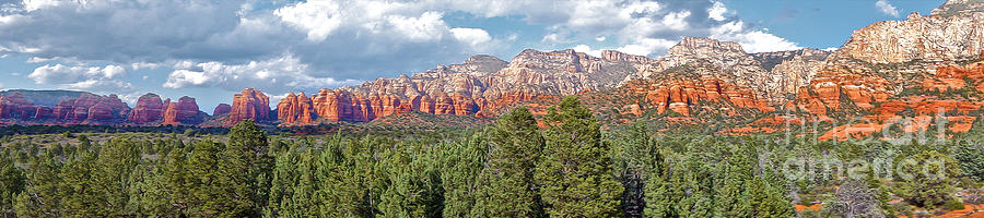 Sedona Arizona Photograph - Sedona Arizona Panorama - 02 by Gregory Dyer
